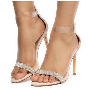 NEW! Liliana Elegant Nude Heel w/ Rhinestone